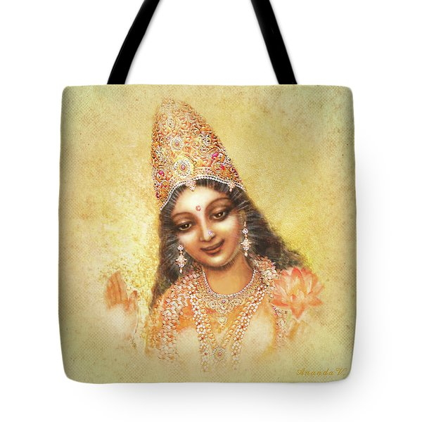 Face Of The Goddess - Lalitha Devi - Without Frame Tote Bag