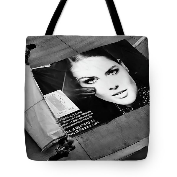 Face On The Floor Tote Bag