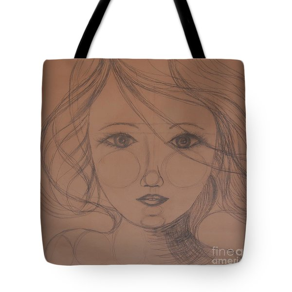 Face Study Tote Bag