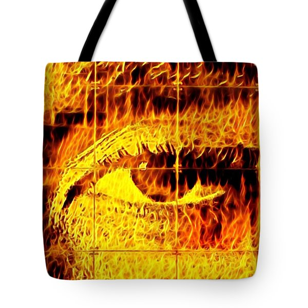 Face The Fire Tote Bag