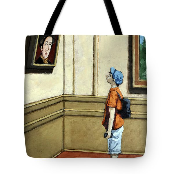 Face To Face - Boy Viewing Art Tote Bag