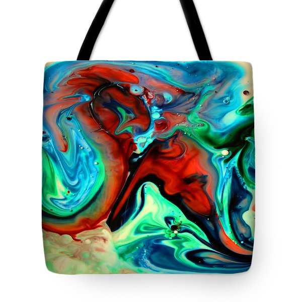 Tote Bag featuring the painting Face To Face by Joyce Dickens