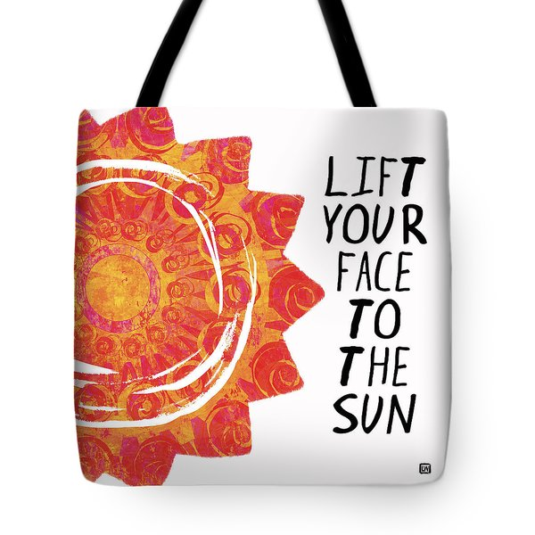 Tote Bag featuring the painting Face To The Sun by Lisa Weedn