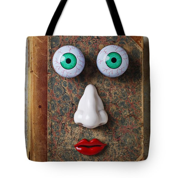 Facebook Old Book With Face Tote Bag by Garry Gay