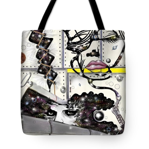 Faces In Space Tote Bag