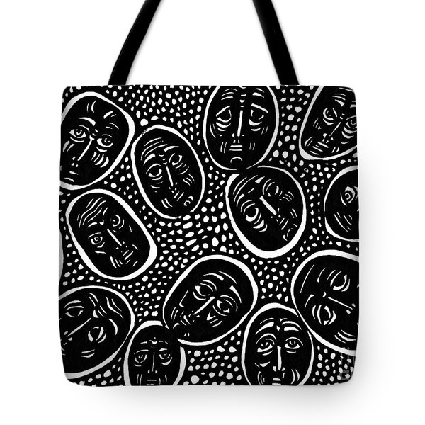 Faces In Stone Tote Bag by Sarah Loft
