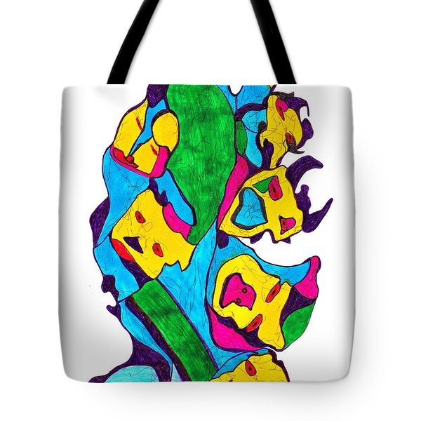 Faces Of Definism Tote Bag by Darrell Black