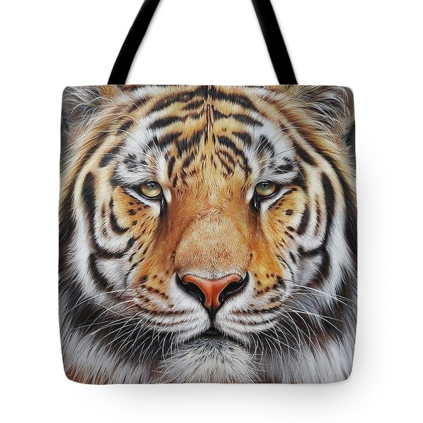 Faces Of The Wild - Amur Tiger Tote Bag