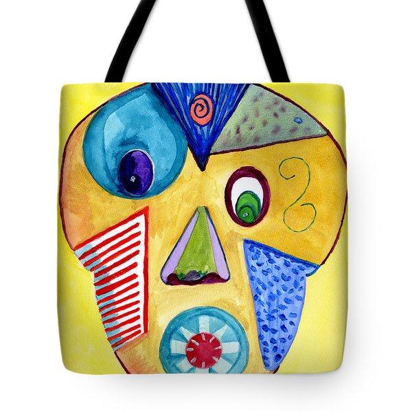 Facial Abstract Tote Bag