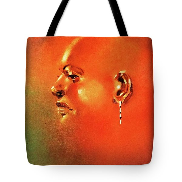 Facial Vignette In Profile Tote Bag