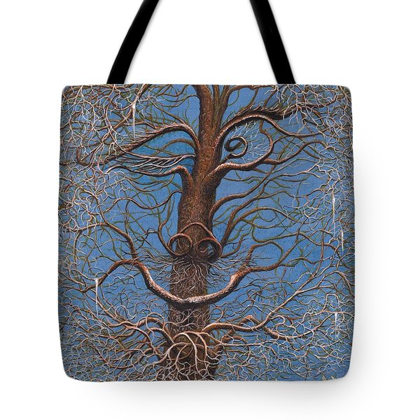 Facing A Frosty Sunset 2010 Tote Bag by Charles Cater