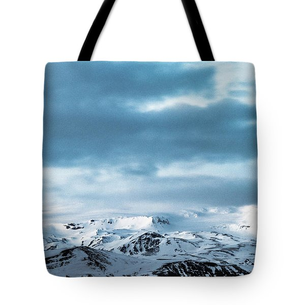 Facing Eyafjallajokull Tote Bag