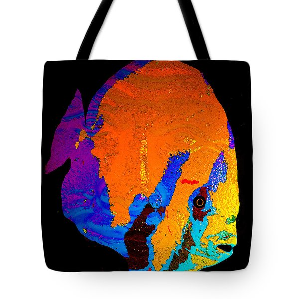 Tote Bag featuring the painting Facing The Fish by David Lee Thompson