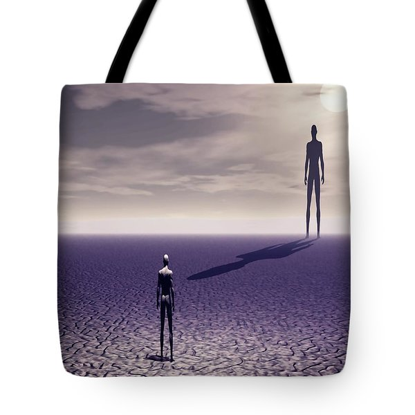 Facing The Future Tote Bag
