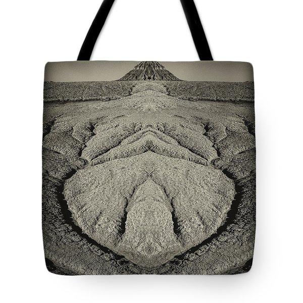 Factory Butte Digital Art Tote Bag