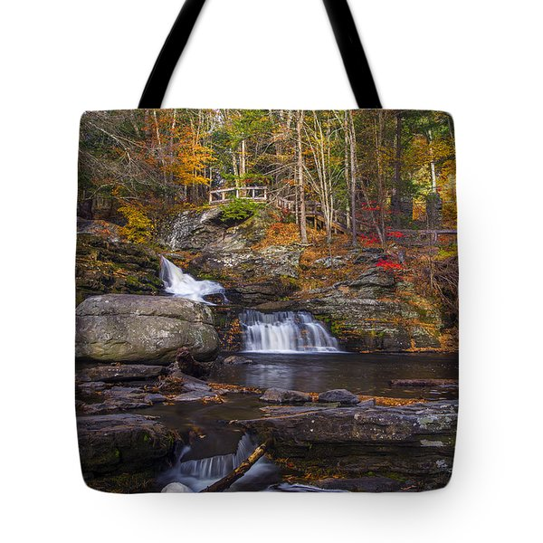 Tote Bag featuring the photograph Factory Falls by Mark Papke