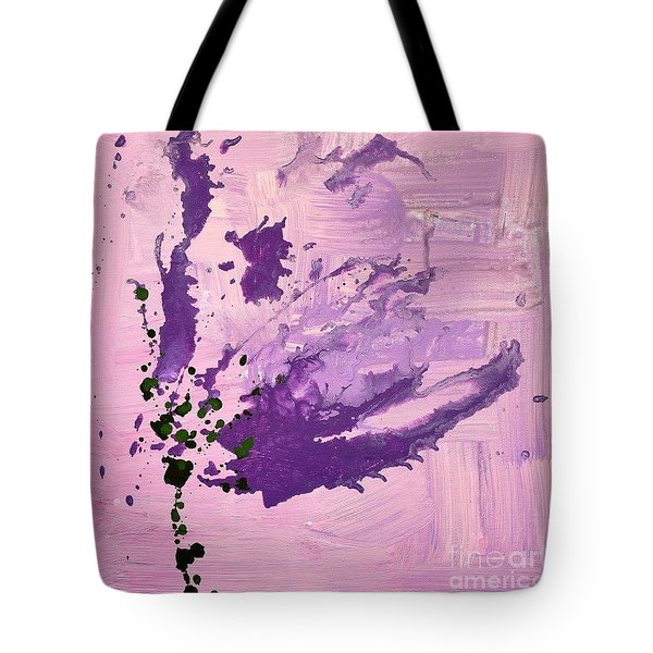 Tote Bag featuring the painting Fade Of Beauty by Annie Young Arts