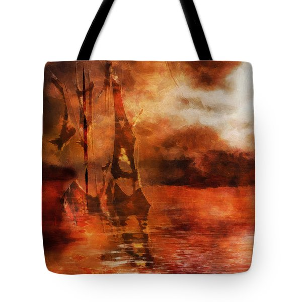 Fade To Red Tote Bag