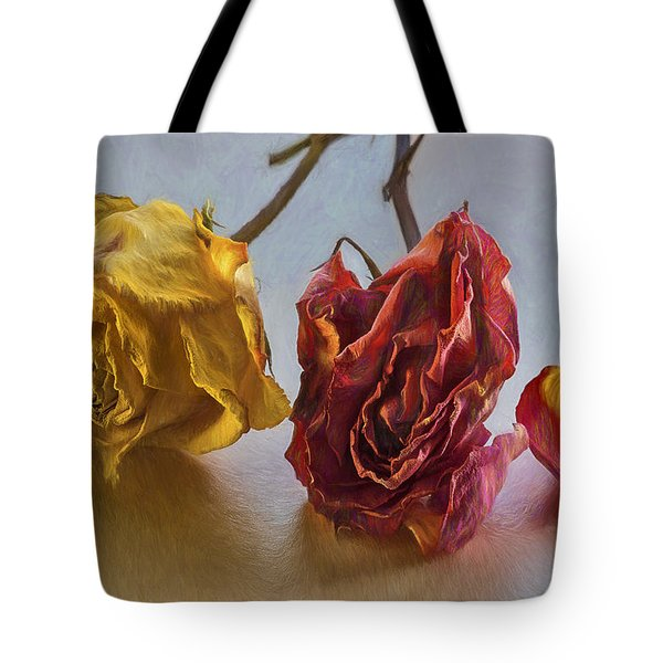 Faded Flowers Tote Bag
