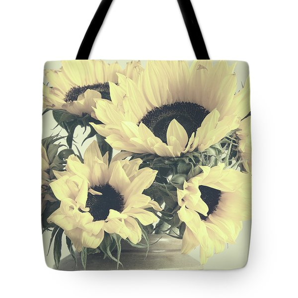 Faded Sunflowers Tote Bag