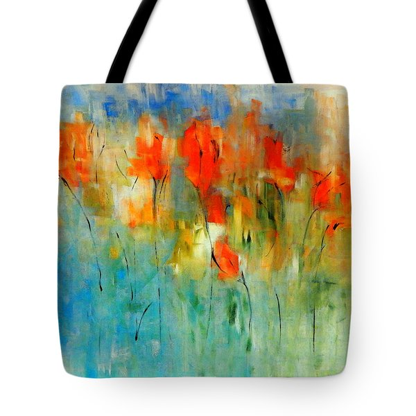 Faded Warm Autumn Wind Tote Bag