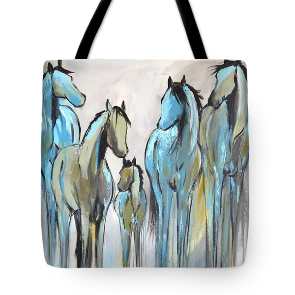 Tote Bag featuring the painting Fading 2 by Cher Devereaux