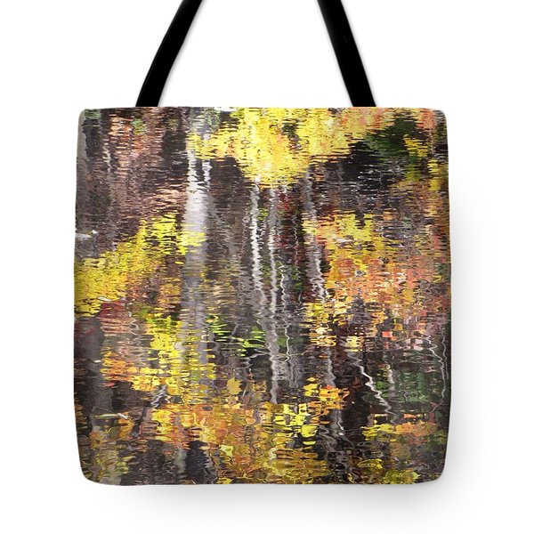 Tote Bag featuring the photograph Fading Fall Water by Melissa Stoudt