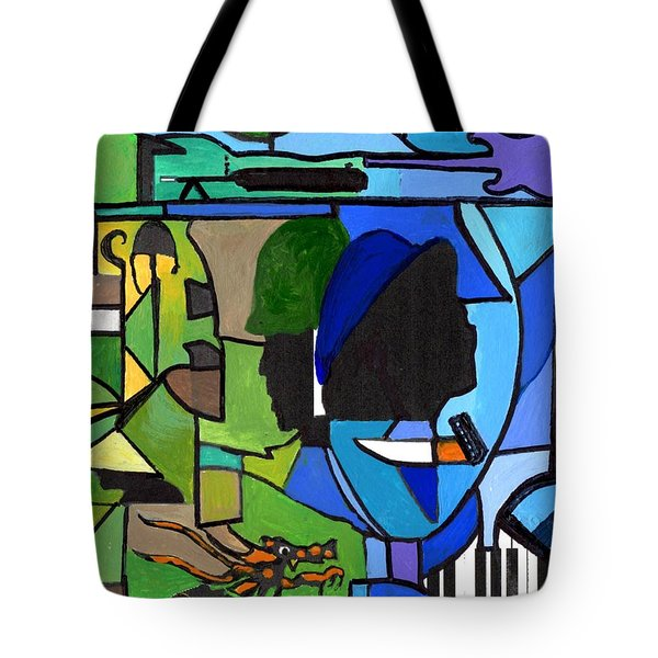 Fading Into Blues Tote Bag