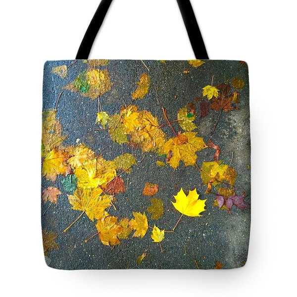 Fading Leaves Tote Bag