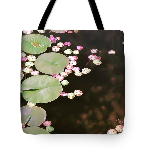 Fading Lily Pads Tote Bag