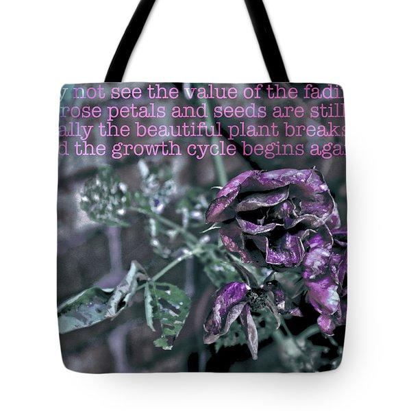 Fading Rose Tote Bag
