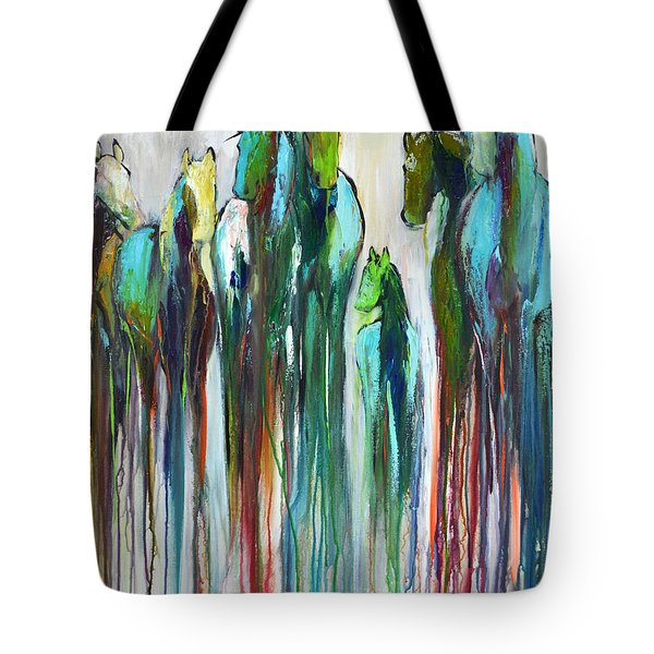Tote Bag featuring the painting Fading Souls by Cher Devereaux