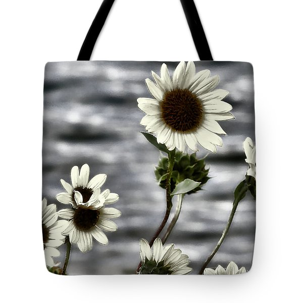 Tote Bag featuring the photograph Fading Sunflowers by Susan Kinney