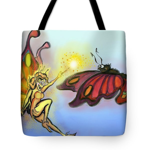 Faerie N Butterfly Tote Bag by Kevin Middleton