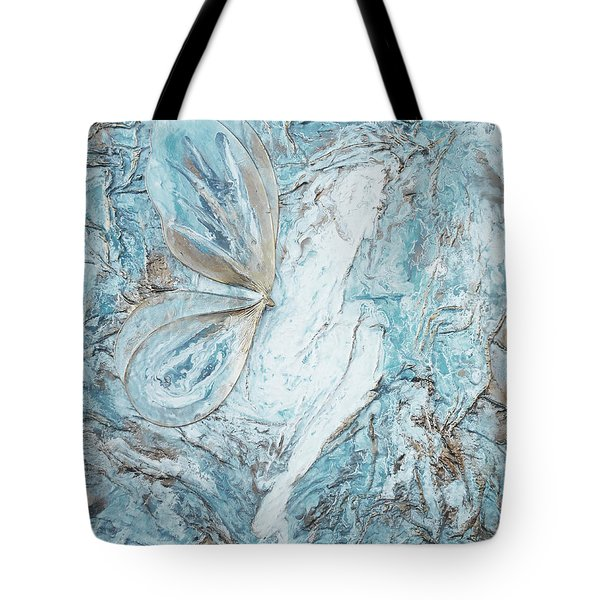 Faery In Blue Tote Bag by Angela Stout