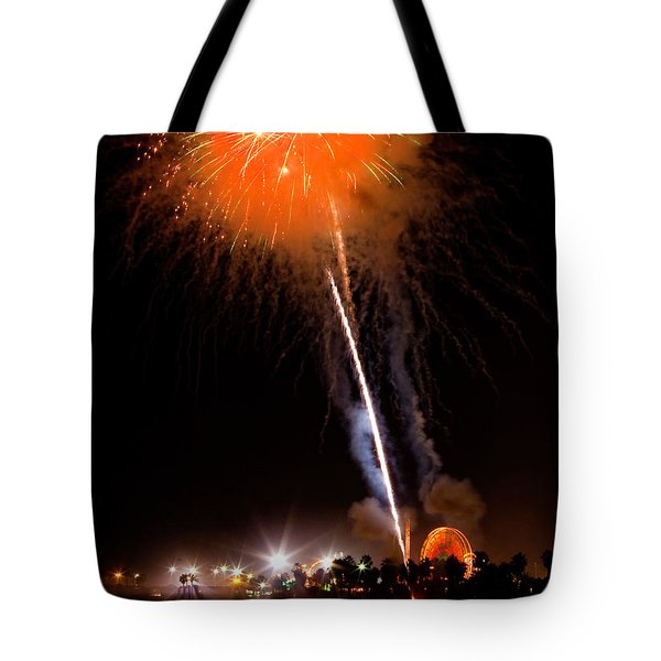 Fireworks As Seen From The Ventura California Pier Tote Bag