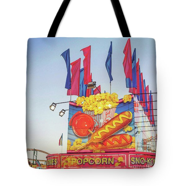 Tote Bag featuring the photograph Fair Food by Cindy Garber Iverson