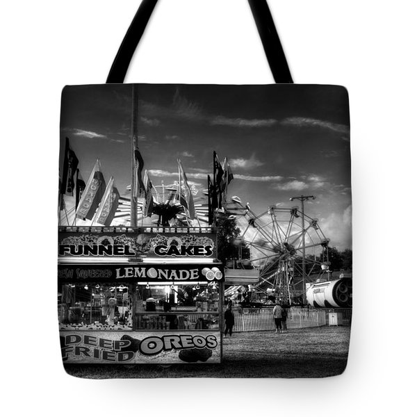 Fair Food In Black And White Tote Bag
