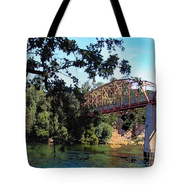 Fair Oaks Bridge Tote Bag by Anthony Forster
