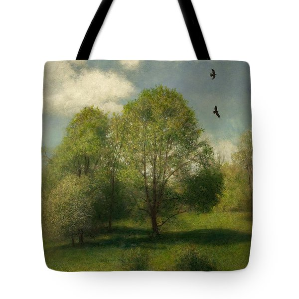 Tote Bag featuring the painting Fairchild Hill by Wayne Daniels