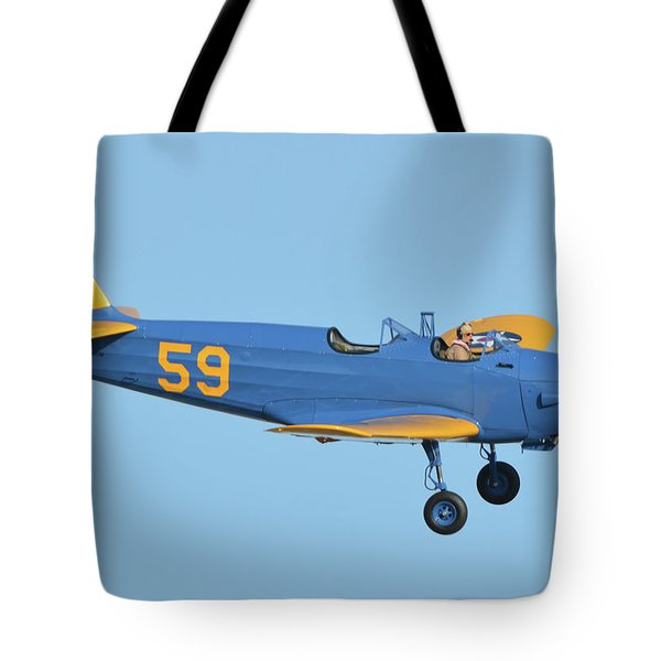 Fairchild Pt-19a N11cm Chino California April 29 2016 Tote Bag by Brian Lockett