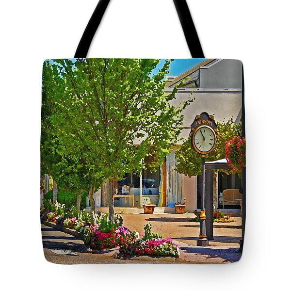 Fairhope Ave With Clock Looking North Up Section Street Tote Bag