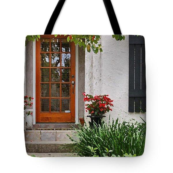 Fairhope Doorway Tote Bag by Michael Thomas