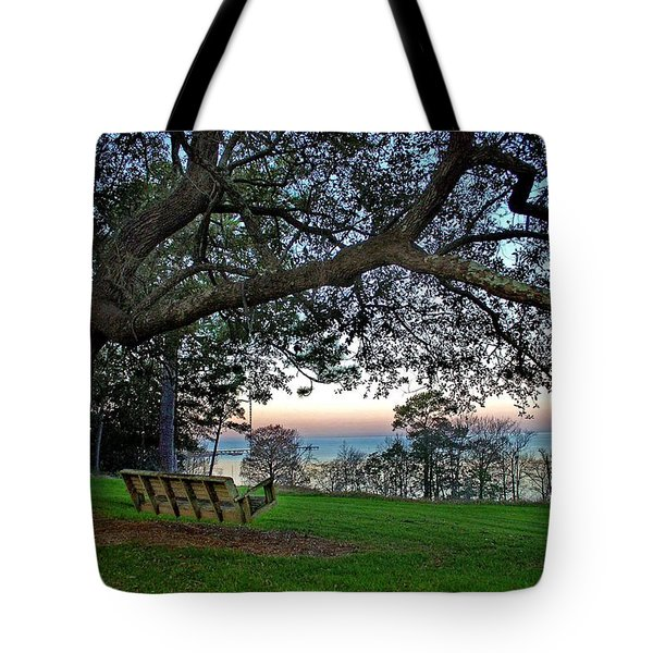 Fairhope Swing On The Bay Tote Bag