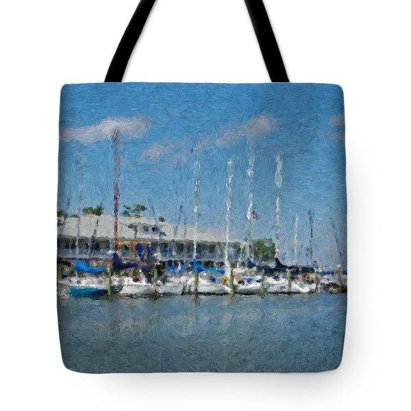 Fairhope Yacht Club Impression Tote Bag by Michael Thomas