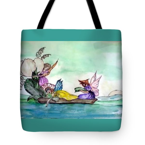 Fairies At Sea Tote Bag