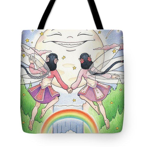 Fairies In Moonlight Tote Bag by Amy S Turner