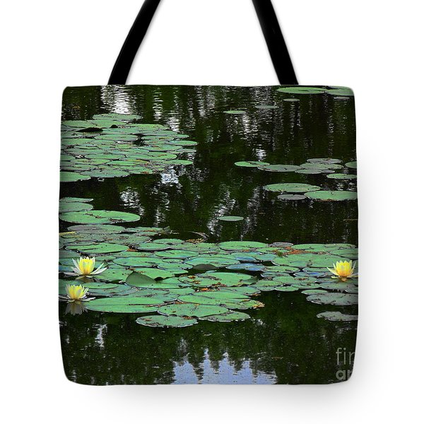 Fairmount Park Lily Pond Tote Bag by Daun Soden-Greene