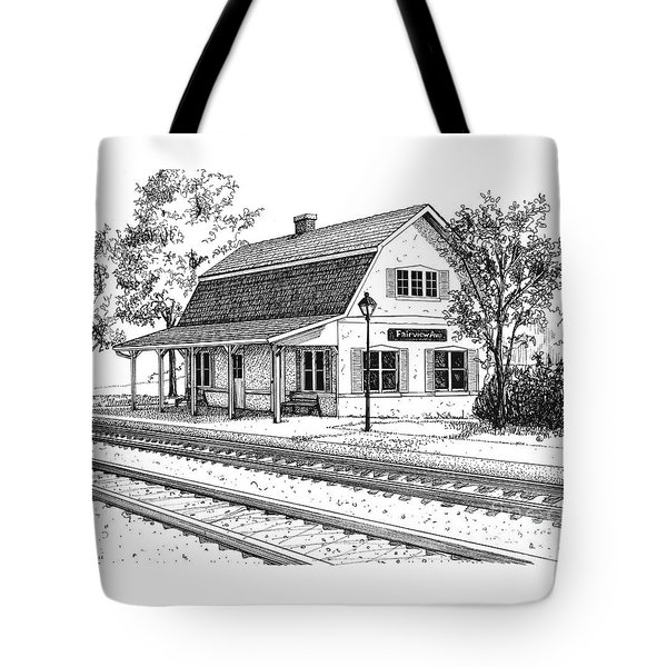 Fairview Ave Train Station Tote Bag