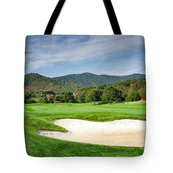 Tote Bag featuring the photograph Fairway Red by Claire Turner